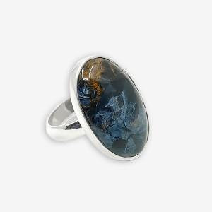 Inel de argint cu pietersit (piatra furtunii) Isep Long