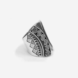 Inel de argint patinat Art Nouveau