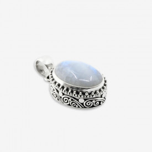 pandantiv argint 925 cu piatra lunii naturală