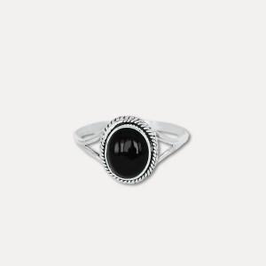 Inel de argint cu onix negru Adhara