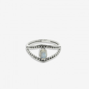 Inel de argint cu piatra lunii Loma