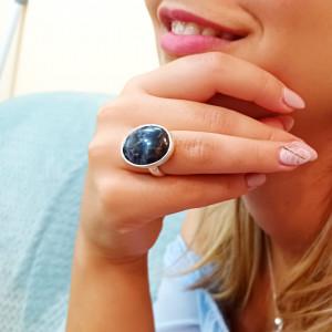 inel argint cu pietersit (piatra furtunii)