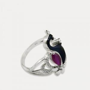 Inel de argint cu rubin Mayura