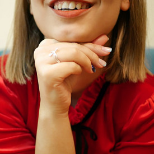 Un inel de argint deosebit, lucrat fin și inspirat