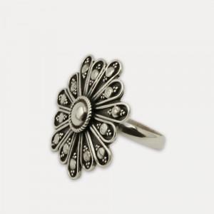 inel argint oxidat