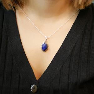 pandantiv de argint cu lapis lazuli
