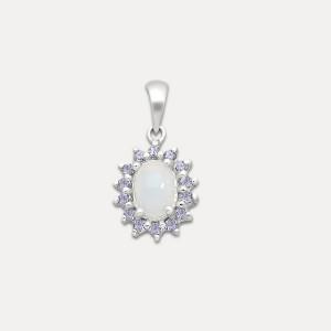 Pandantiv de argint cu opal și tanzanit Maya