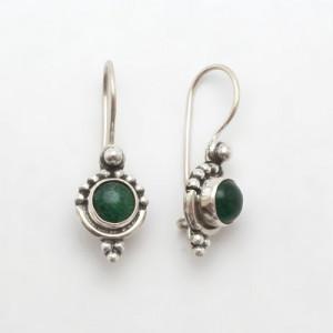 Cercei de argint cu jad Astha