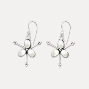 Cercei din argint și perle Star Pearl
