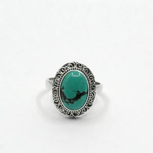 Inel de argint cu turcoaz Asala (#2)