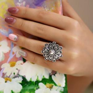 inel de argint oxidat