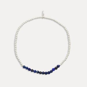 Brățară de argint și lapis lazuli
