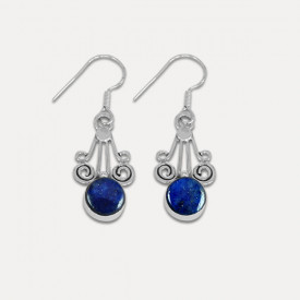 Cercei de argint cu lapis lazuli Sangita