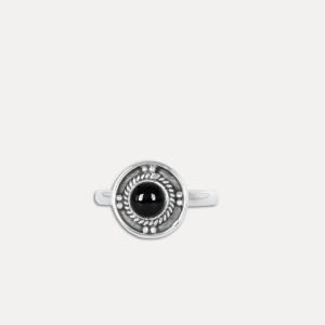 Inel de argint cu onix negru Bhinna