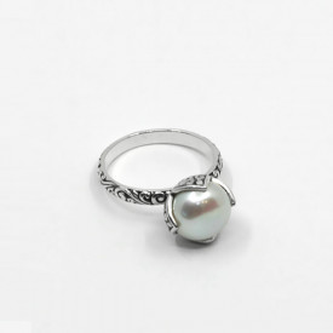 Inel de argint cu perlă Bali