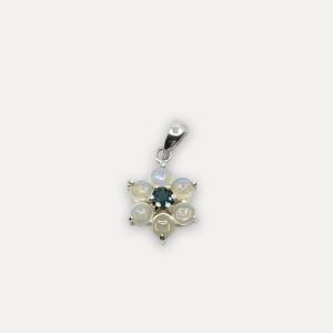Pandantiv de argint cu opal și topaz albastru Feya