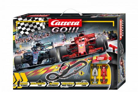 Circuit electric masinute Ferrari si Mercedes Speed Grip Carrera Go 5,3 m