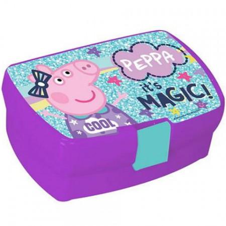 Cutie pentru sandwich Purcelusa Peppa mov