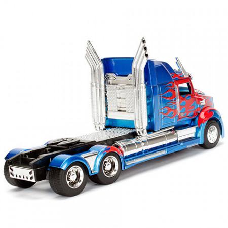 Masinuta metalica Optimus Prime Western Star 5700 Transformers 21 cm