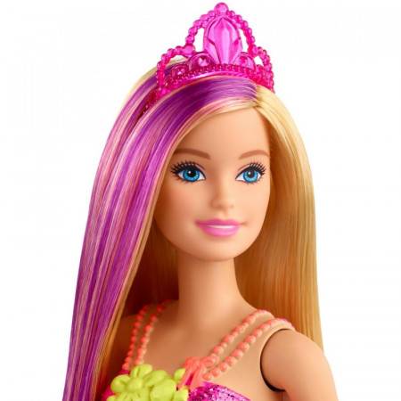 Papusa Barbie blonda cu suvita mov Barbie Dreamtopia