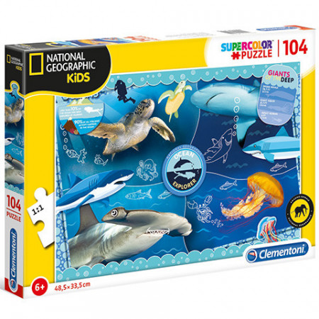 Puzzle Giants of the Deep National Geographic Kids Clementoni 104 piese