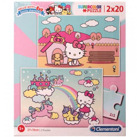 Puzzle Hello Kitty Clementoni 2x20 piese