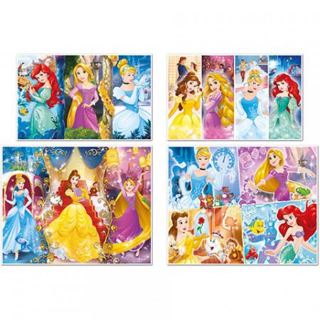 Puzzle Printesele Disney 4 in 1 Clementoni 360 piese