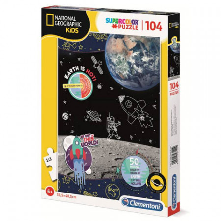 Puzzle Space National Geographic Clementoni 104 piese