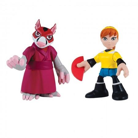 Set 2 figurine Splinter si April Testoasele Ninja Half Self Heroes