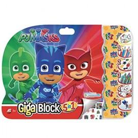 Set creativ Eroi in pijama Giga Block 5 in 1
