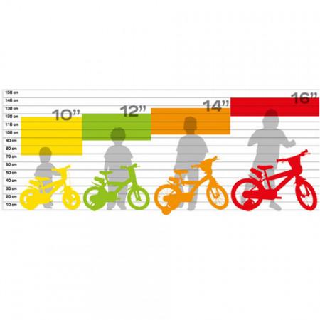 "Bicicleta copii Trolls 14"""
