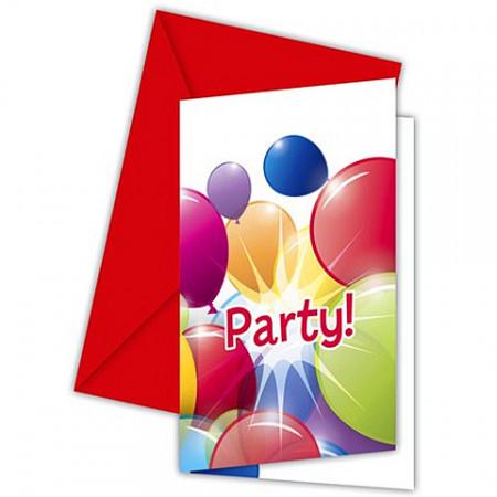 Invitatii pentru petrecere 6 bucati