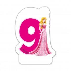 Lumanare tort cifra 9 Aurora Printesele Disney