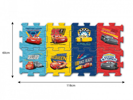 Puzzle din spuma Cars 3 8 piese