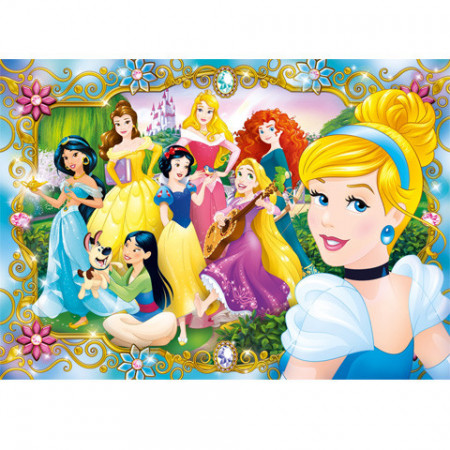 Puzzle Jewels Printesele Disney Clementoni 104 piese