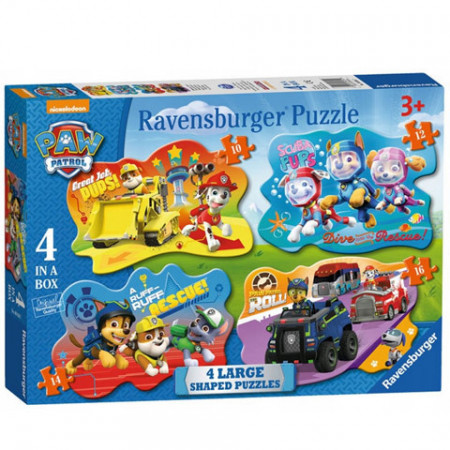 Puzzle maxi Patrula Catelusilor 4 in 1 Ravensburger 52 piese