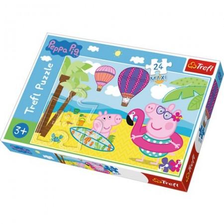 Puzzle Maxi Purcelusa Peppa 24 piese