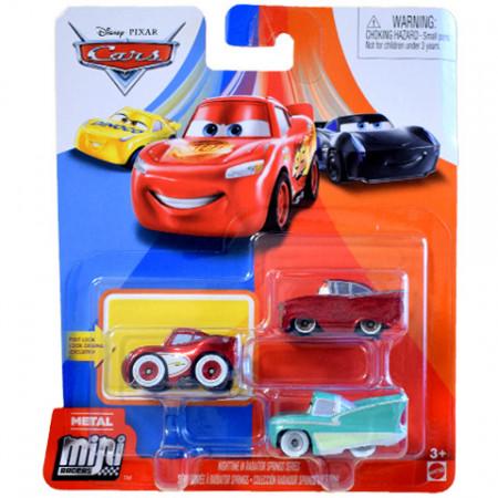 Set 3 masinute metalice Nighttime in Radiator Springs Mini Racers Cars 3