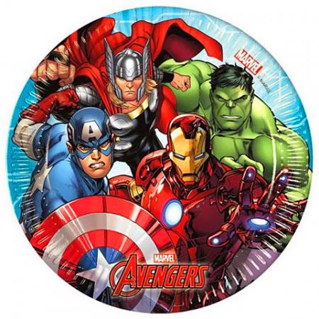 Set 8 farfurii de unica folosinta 20 cm Avengers