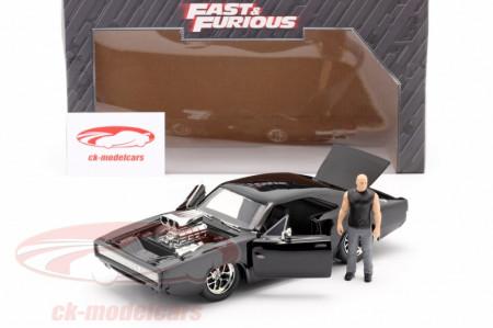 Set de joaca figurina Dom si masinuta metalica Dodge Charger R/T Fast and Furious
