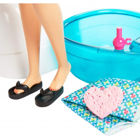 Set de joaca Mani-Pedi Spa Barbie Wellness