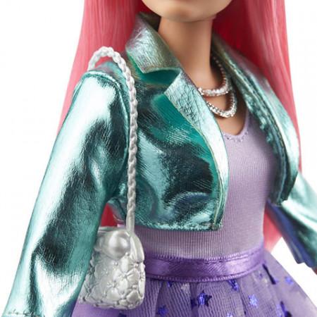 Set papusa Barbie cu par roz si accesorii Barbie Princess Adventure