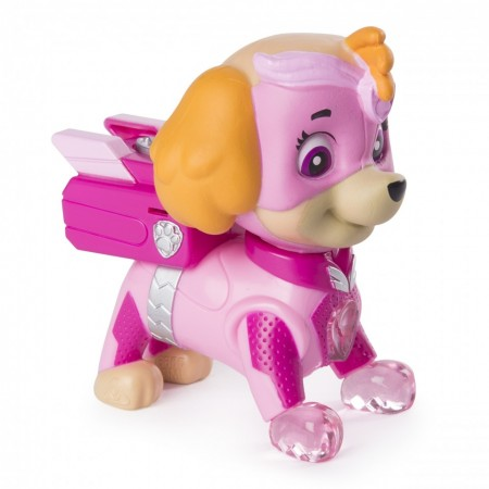 Figurina articulata cu lumini Skye Mighty Pups Patrula Catelusilor
