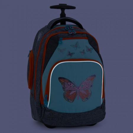 Ghiozdan troler scoala cu fluturi Ars Una 51 cm