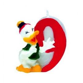 Lumanare tort cifra 9 Donald Duck Disney