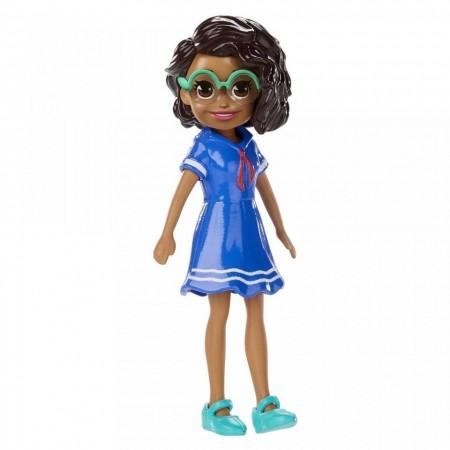 Papusa Shani in rochita albastra Polly Pocket