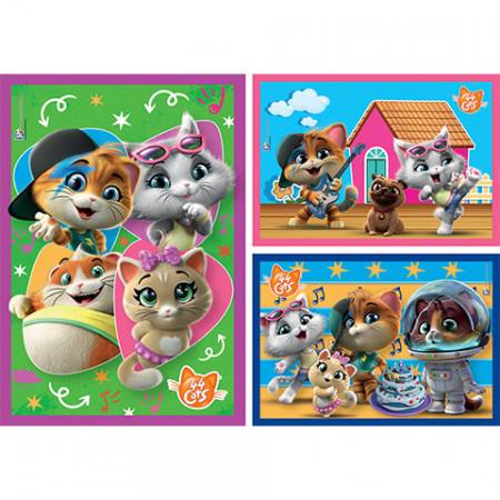 Puzzle 44 Cats Clementoni 3x48 piese