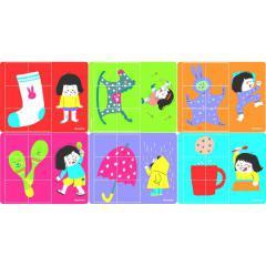 Puzzle Baby 6 in 1 Obiecte Clementoni