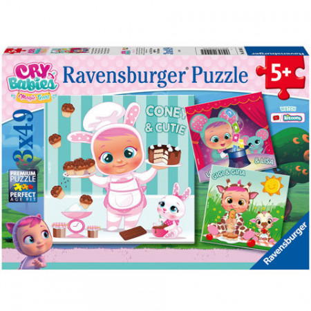 Puzzle Cry Babies Ravensburger 3 x 49 piese