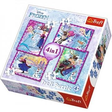 Puzzle Frozen 4 in 1